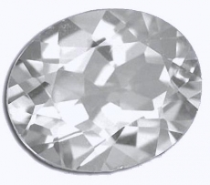 Topas, 3.2 Carat, VVSI, oval, excellent, Touch of Iceblue