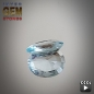 Preview: Aquamarin, oval, VSI, 0.92 Carat, 8.0x7.0x3.0 mm, aus Afrika