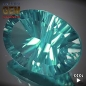 Mobile Preview: Fluorit, Paraiba Blau, Oval, Concave, 23.0x12.8x12.2 mm,  31.1 Carat, IF, aus Brasilien