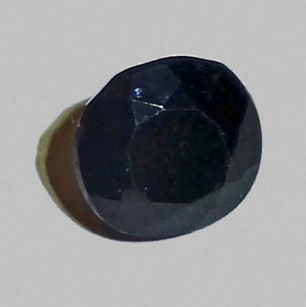 Black Turmalin 12 Carat, Opaque, Rund, Mozambique