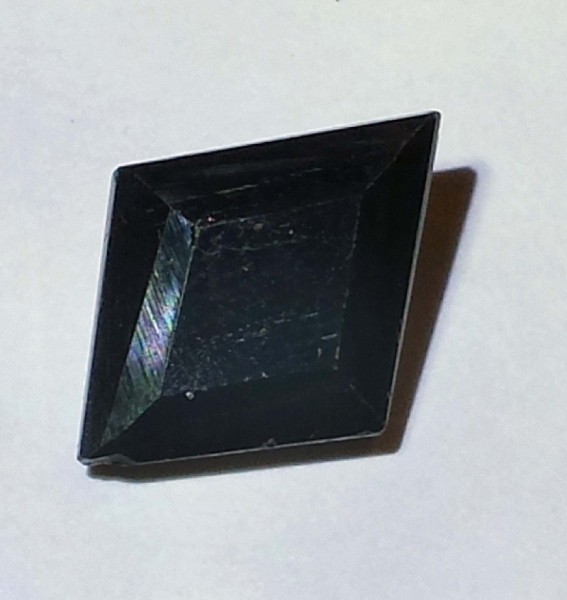 Black Turmalin 9.5 Carat, Opaque, Fancy, elegant, Mozambique