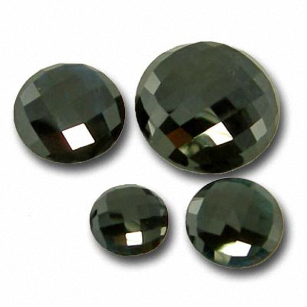 Black Turmalin 9-12 Carat, Opaque, Rund checkerboard, excellent, ab 39.90