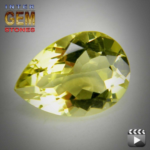 Lemon Quarz, 5.25 Carat, Tropfen, VVSI, excellent
