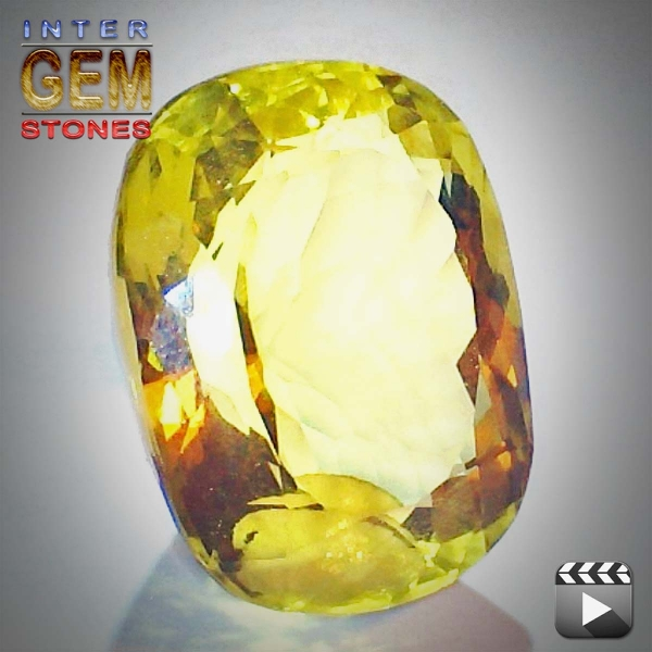 Lemon Quarz, 49.59 Carat, oval, VVSI, excellent