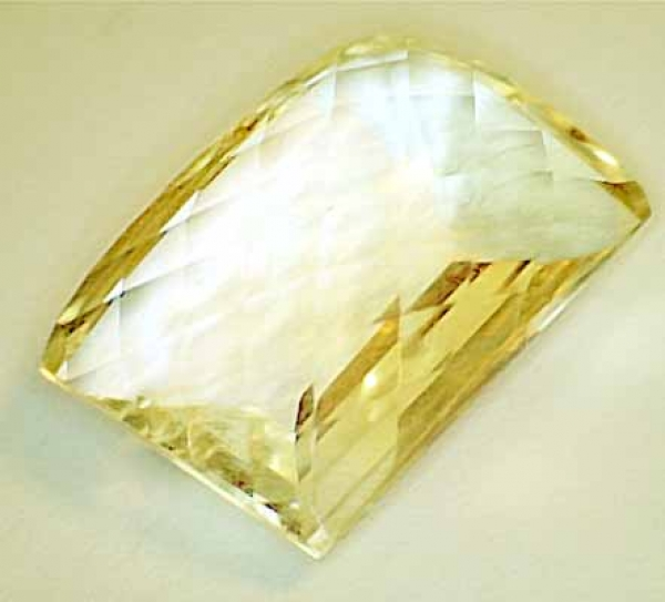 Citrin 12.50 Carat, VVSI, Antik Checkerboard, excellent