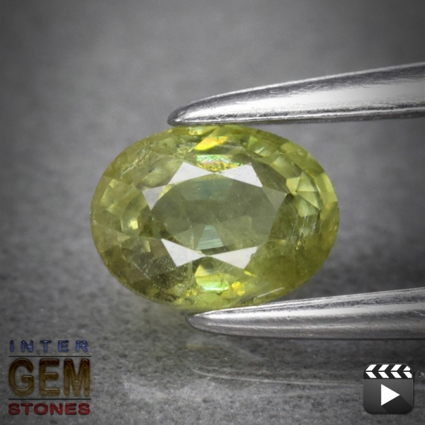 Demantoid, Oval, I1, 0.49 Carat, 5.2x4.0 mm, aus Madagaskar