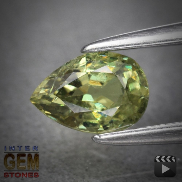 Demantoid, Pear, VSI, 0.50 Carat, 6.0x4.0 mm, aus Madagaskar