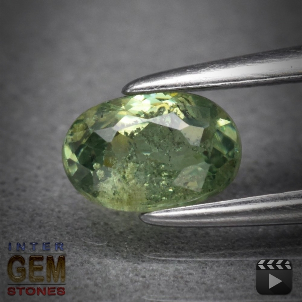 Demantoid, Oval, I1, 0.54 Carat, 5.8x4.0 mm, aus Madagaskar