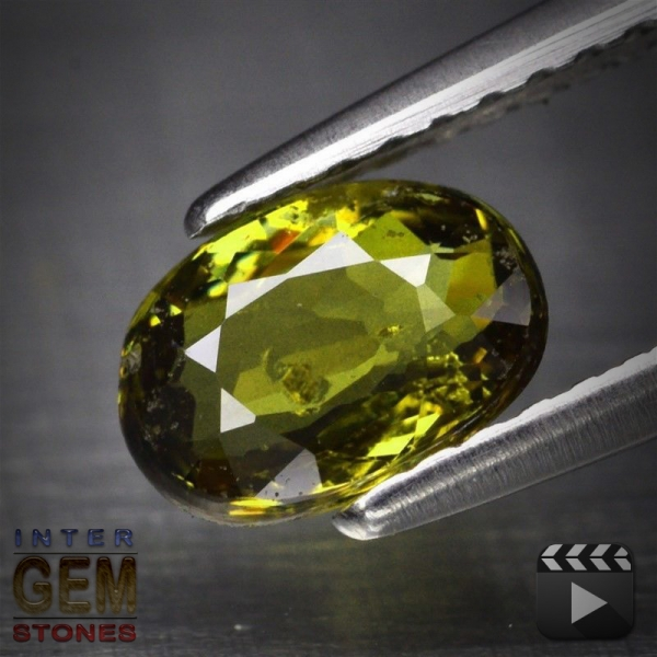 Demantoid, Oval, SI, 0.90 Carat, 7.0x5.0xmm aus Madagaskar