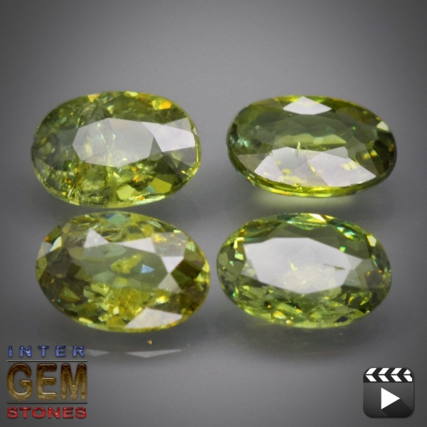 Demantoid Set, Oval, VS-SI, 2.10 Carat, 6.0x4.0-4.4 mm, aus Madagaskar