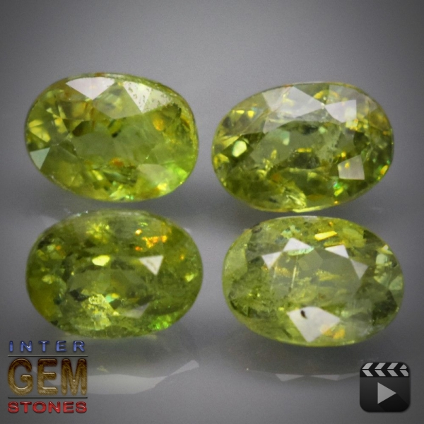 Demantoid Set, Oval, VS-SI, 2.56 Carat, 5.6x4.2-6.0x4.0 mm, aus Madagaskar