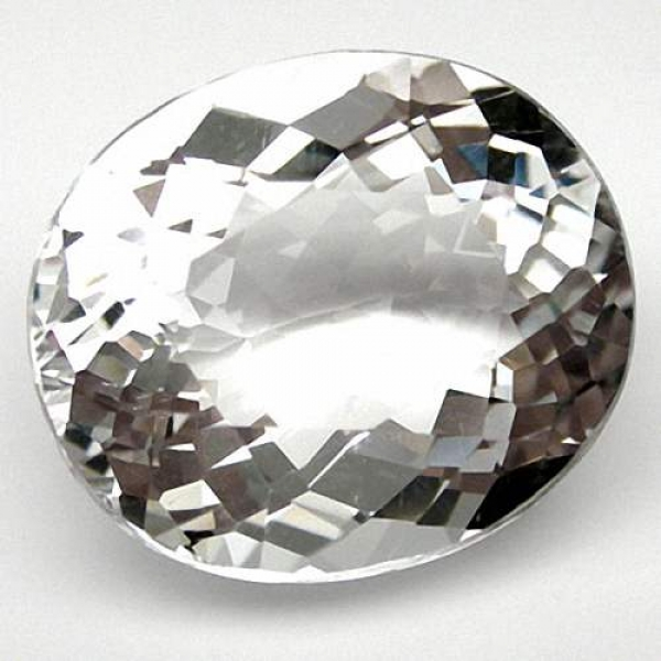 Quarz, Kristallweiss,  27.35 Carat, oval, IF, excellent