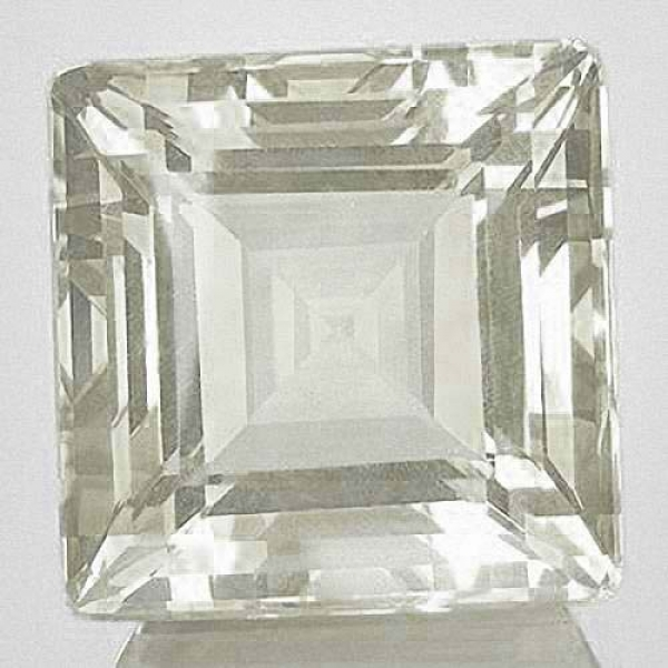 Quarz, Kristallweiss 10.35 Carat, Quadrat, IF, excellent