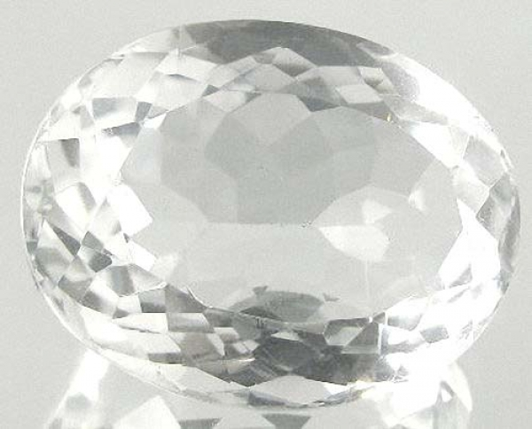 Quarz, Kristallweiss, 10.70 Carat, oval, IF, excellent