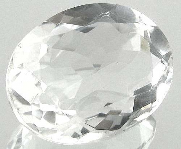 Quarz, Kristallweiss, 11.60 Carat, oval, IF, excellent