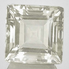 Quarz, Kristallweiss 8.60 Carat, Quadrat, IF, excellent