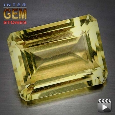 Lemon Quarz, 10.50 Carat, oktagon, VVSI, excellent