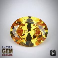Zirkonia, Goldgelb, AAA++, Oval, IF, 3.0 Carat, 9.0x7.0x4.0 mm